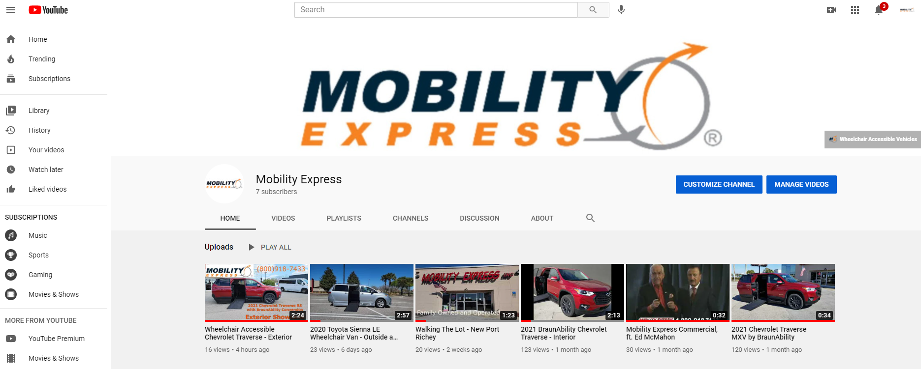 Mobility Express Announces Launch of Official YouTube Channel