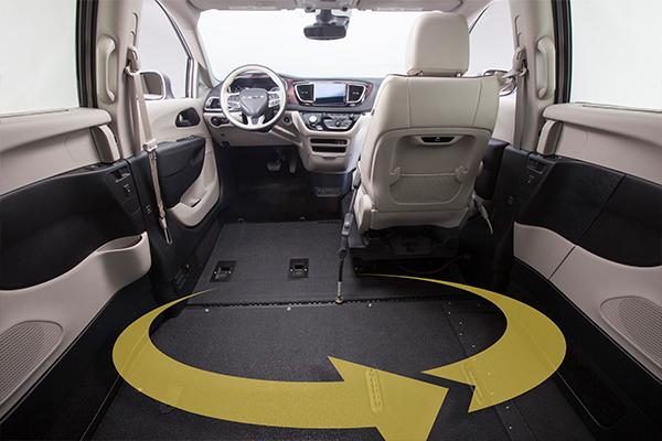 Chrysler Pacifica Wheelchair Van Interior
