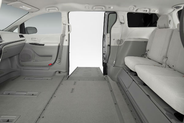 inside a wheelchair accessible van