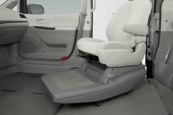 Removable seats in a wheelchair accessible van