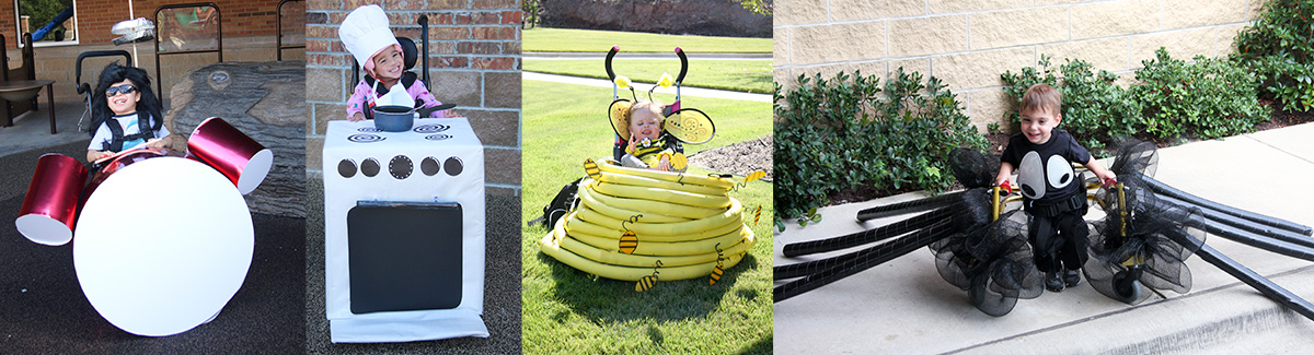 wheelchair costumes for kids in chairs and walkers